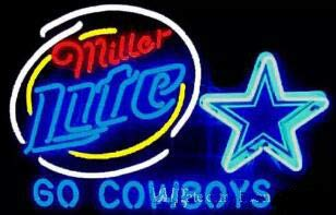 Neon Princess Factory 3224 inches Miller Lite Dallas Cowboys High Quanlity Traditional Handmede Real Glass Tube Neon Light Home Beer Bar Pub Recreation Room Game Lights Windows Glass Wall Signs]()