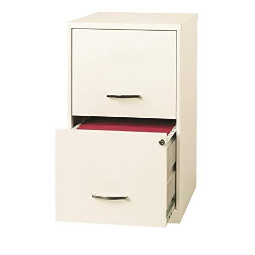 Scranton & Co 18'' Deep 2 Drawer File Cabinet in Pearl White