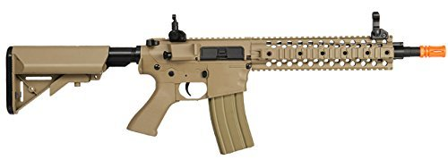 Aeg Metal - Lancer Tactical Airsoft LT-12T RIS EVO Metal Gearbox AEG - TAN