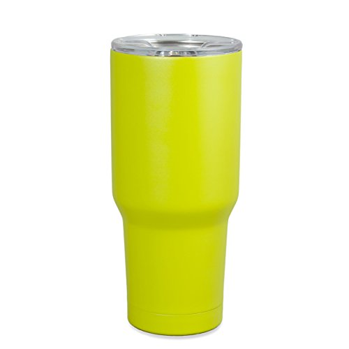 One Busy Life 30 oz Lime Green Stainless Steel Tumbler Insulated Travel Cup