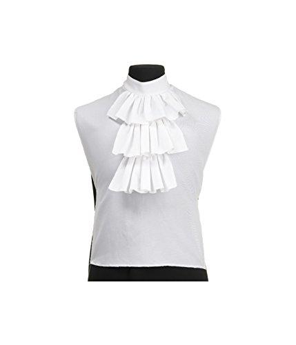 White Jabot Shirt Women Front Accessory,Multicolored,Onesize