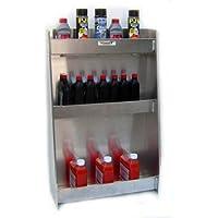 Pit Posse 523 Variety Shelf Cabinet Aluminum Enclosed Race Trailer Shop Garage Storage Organizer