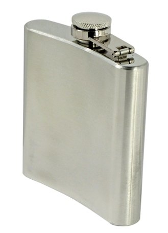 SE HQ6 6 oz. Stainless Steel Hip Flask