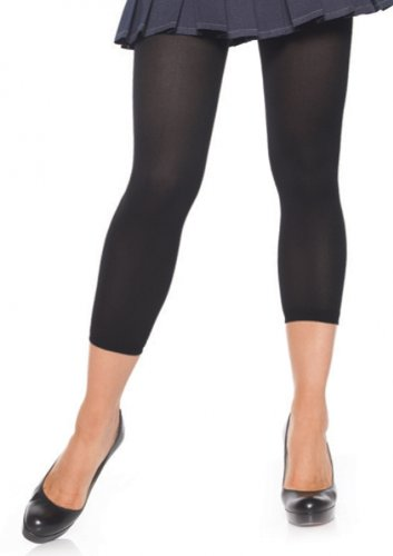 Leg Avenue Women's Opaque Footless Tights, Black, One Size