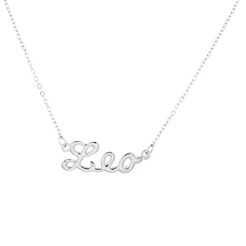 Lux Accessories Horoscope Zodiac Sign Leo Silvertone Necklace (Necklace Earrings Zodiac)