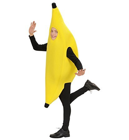 Children's Banana Child Costume Outfit for 60s 70s 80s Cartoon Fancy Dress (80s Fancy Dress Characters)