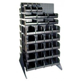 Conductive Louvered Two Sided Floor Rack, 36