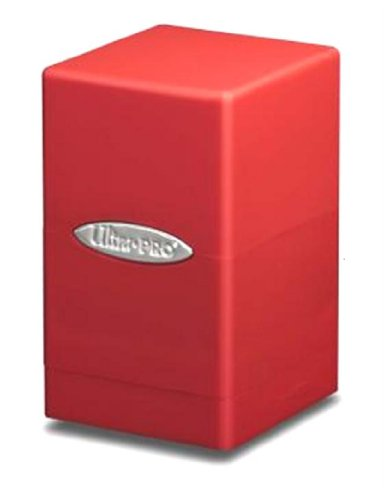 Ultra Pro Red Satin Tower Deck Boxes (Ultra Pro Mtg Pro Tower Deck Box)