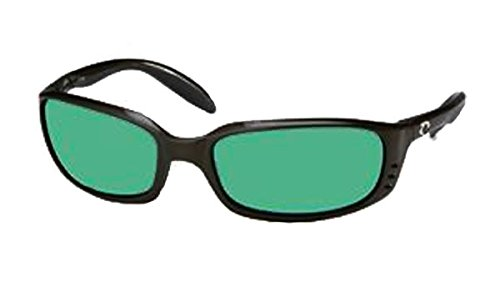 Costa Del Mar Brine Sunglass, Black/Green Mirror 400Glass by Costa Del Mar