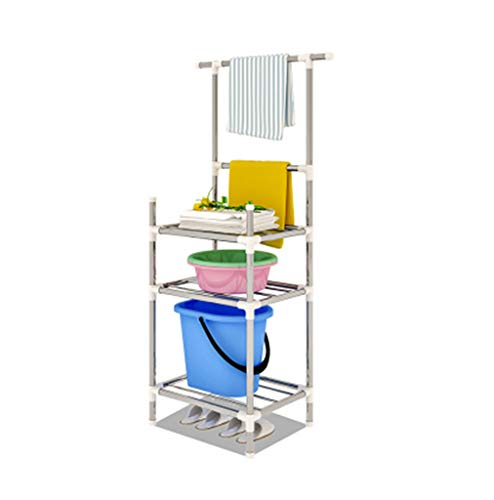 Washbasin Stand - MQRT LSY# Multi-Functional Rack, Bathroom Washbasin Stand Kitchen Shelf Bathroom Balcony Bedroom Storage Storage Rack Landing 45x38x136cm ZMR&