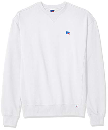 Russell Athletic Heritage Men's Frank Crew Sweatshirt, White, Large