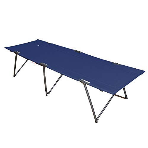 Suzeten Strong Stable Folding Camping Bed Foldable Cot for Outdoor Camping Hiking Hunting Traveling with Carry Bag,Navy Blue