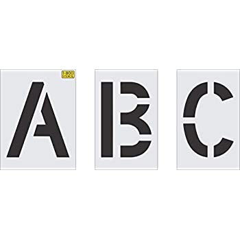 Image of Drawing & Lettering Aids 12' Alphabet Kit Stencil from 1-800-Stencil, 1/16' LDPE Plastic, Lasts for Hundreds of Uses