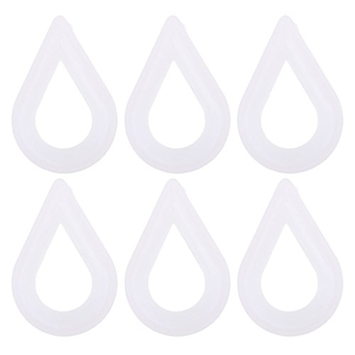 Homyl 6 Pieces Boat 8mm White Plastic Thimbles Used for End of the Rope Nylon -