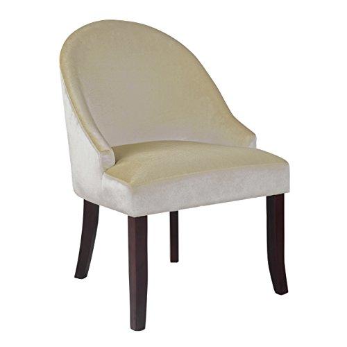 Corliving - Antonio Accent Velvet Fabric Chair - Dark Espres