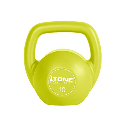 Tone Fitness Vinyl Kettlebell, Lime, 10-Pound by Tone Fitness (Image #8)