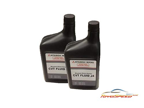 TOYOSPEED LLC Genuine Mitsubishi J4 (J1) CVT Transmission Fluid - 2 Quarts - MZ320185 Lancer Outlander & Sport with CVT Transmission