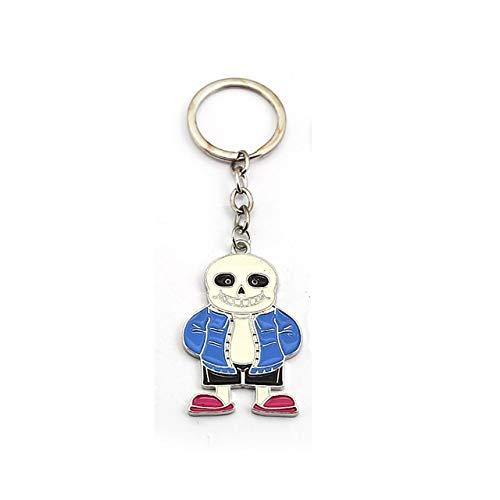 Value-Smart-Toys - New Game Undertale Keychian Skull Metal Key Chain Ring Halloween Gift For Men Car Women Bag Jewelry Chaveiro Porte -