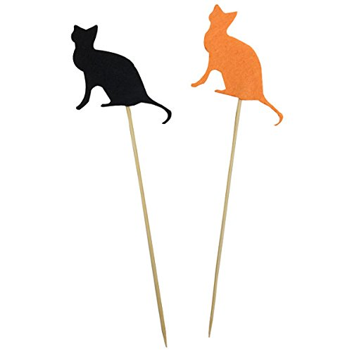Halloween Cake Topper Kit Cat 2pcs - Excellent Home Decor - Indoor & Outdoor