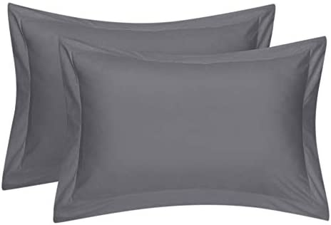 Comfort Beddings - Juego de 2 fundas de almohada 100% algodón ...