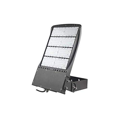 LEDMyplace 300W LED Flood Light (Replaces 1000W), 1-10V Dimmable, 40521 Lumens, 5700K, Bronze Finish Outdoor Security Light, IP65 Waterproof, AC100-277V, UL, cUL & DLC Listed, 5 Year Warranty (Bronze Yoke Cover)
