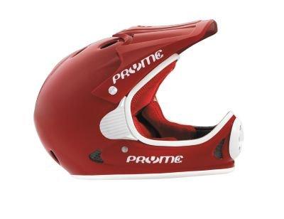 City Full Face Helmet - Pryme US Full Face Helmet - SM/MD (53-57cm), Gloss Red/White Trim