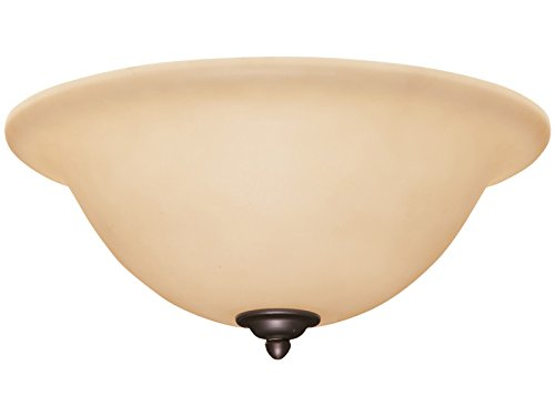 Emerson Ceiling Fans LK72BQ Amber Scavo Glass Light Fixture with Barbeque Black Bowl Caps