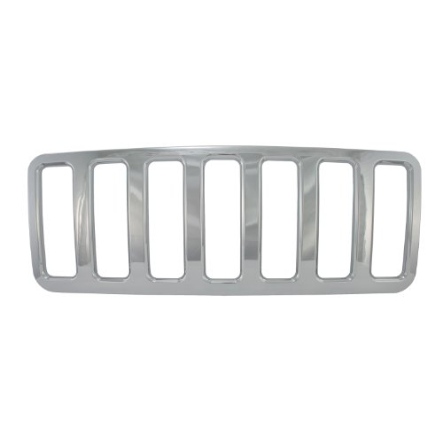 Bully  GI-45 Triple Chrome Plated ABS Snap-in Imposter Grille Overlay, 1 Piece Chrome Plated Abs Grille Grill