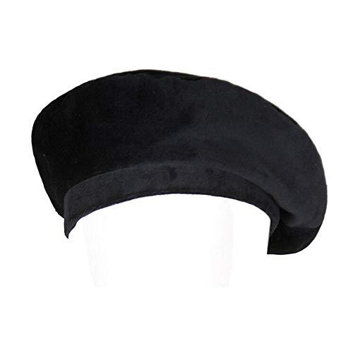 (Annlaite Women's Velvet Beret Cap Winter Warm Newsboy Hat Cabbie Hat Size 22