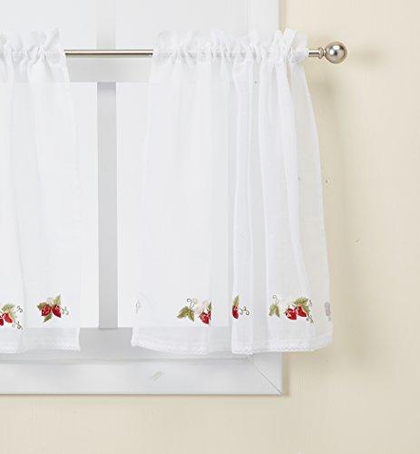 - Curtain Chic Garden Path Tier, 24-Inch, Strawberry