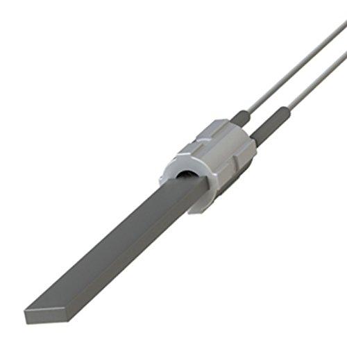 Elemento calefactor con cristal de cuarzo negro para estufas de pellet, longitud total 122 mm, 300 W: Amazon.es: Bricolaje y herramientas