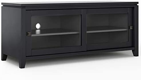 SIMPLIHOME Cosmopolitan SOLID WOOD Universal TV Media Stand