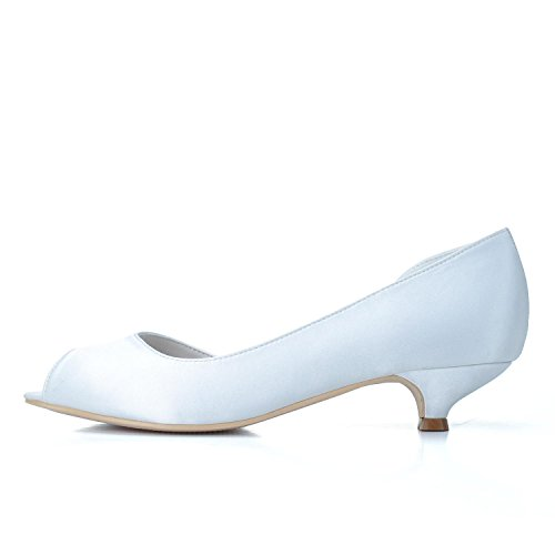 Fine En white Talon 03 Femmes CôTé Personnalisé Gamme YC Pompe Chaussures Open amp; Toe De SoiréE Vide Mariage Haut 0700 L De Mariage Soie fX4qgvO