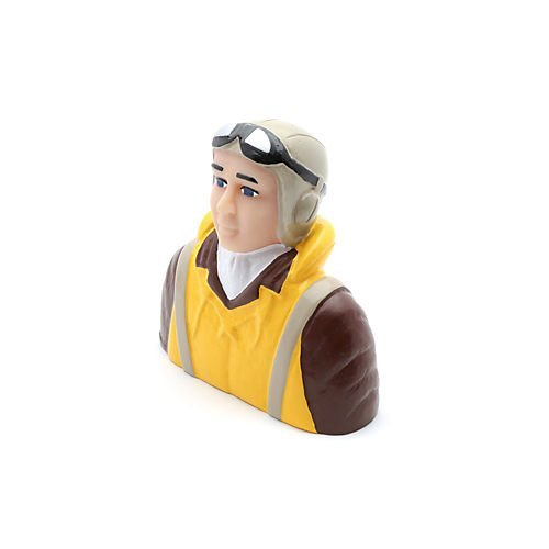 - 1/4 Scale WWII Pilot with Vest, Helmet & Goggles by Hangar 9