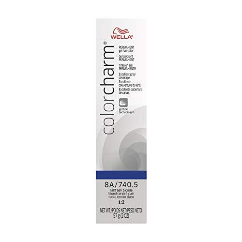 Wella Color Charm Gel, 740.5/8A Light Ash Blonde, 2 oz (Wella Hair Gel Products)