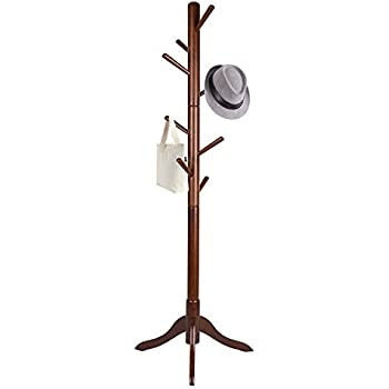 Amazon.com: Vlush Sturdy Wooden Coat Rack Stand, Entryway ...