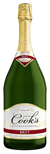 Extra Dry Sparkling Wine - Cook's Sparkling California Champagne Brut White Wine, 1.5 L bottle