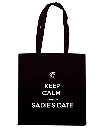 NEED Shirt I TKC2534 KEEP Borsa SADIE'S Shopper Speed Nera A DATE CALM 7wqdTnf