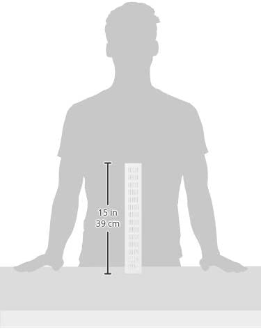 La ventilation gf386b-y gf386b Grille rectangulaire encastrable aluminium verni 380/x 60/mm blanc
