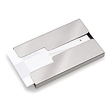 Amazon stainless steel thumb slide out business credit card stainless steel thumb slide out business credit card holder pocket case new colourmoves Image collections