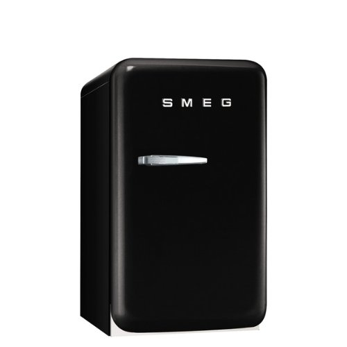 Smeg FAB5URNE 16″ 50's Retro Style Series Compact Refrigerator with 1.5 cu. ft. Capacity Absorption Cooling Automatic Defrost LED Interior Lighting and Adjustable Shelves in Black with Right