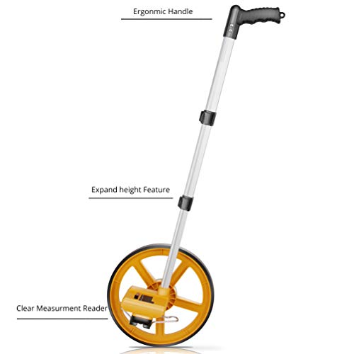 Scuddles Collapsible Measuring Wheel Measures Up To 10,000 Feet Perfect surveying Tool For Distance Measurment (Telescoping)