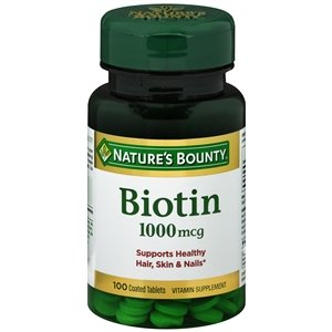 Nature's Bounty Biotin 1000 mcg Tablets 100 ea (Pack of 6) by Choice