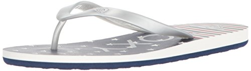 Roxy Women's Tahiti Sandals Flip-Flop, Red/White/Blue, 8 M (Roxy Print Sandals)