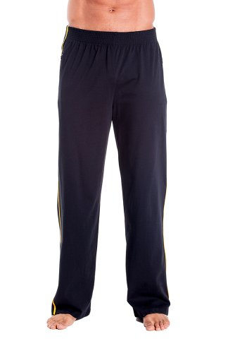 Mens Zipper Pocket Sweat Pant by Pitbull in Black with Gold, Small by Pitbull Gym