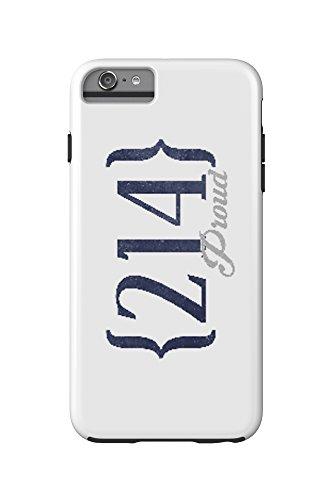 Grand Prairie, Texas - 214 Area Code (Blue) (iPhone 6 Plus Cell Phone Case Cell Phone Case, - Grand Prairies