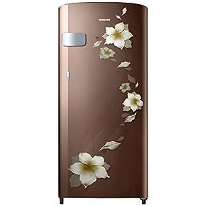 Samsung 192 L 2 Star Direct-Cool Single Door Refrigerator (RR19T2Y1BD2/NL, Star Flower Brown)