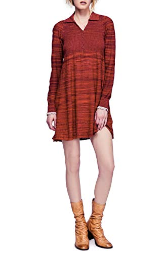 Free People Women's Rain or Shine Dress (Red, Large) from Free People