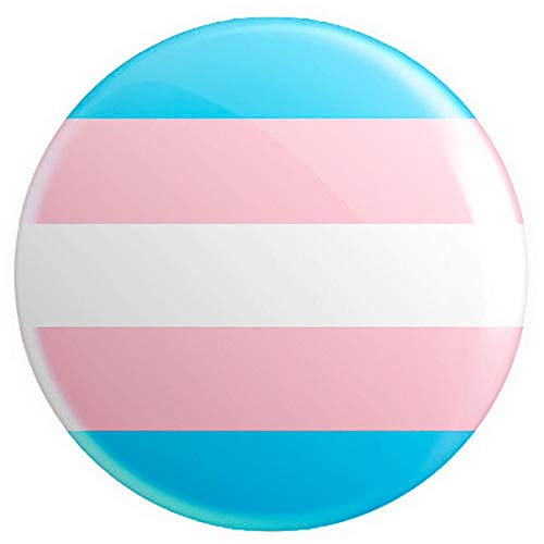 (Rimi Hanger LGBTQ Pride Flags Button Pin Badge 25mm 1 Inch Lesbian Gay Gender Bisexual Badge Transgender One Size)