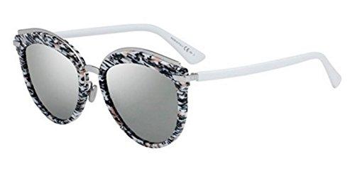 New Christian Dior OFFSET 2 W6Q/0T Pink Black White/Silver - Offset Sunglasses